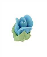 Royal Icing Rosebud - Sky Blue