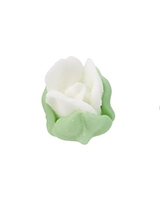 Royal Icing Rosebud - White