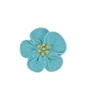 Small Royal Icing Wild Rose - Blue