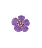 Small Royal Icing Wild Rose - Lavender
