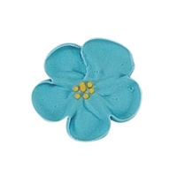 Med-Lg Royal Icing Wild Rose - Blue