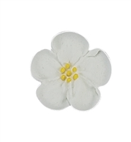 Med-Lg Royal Icing Wild Rose - White