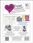 "Image shows 8"" x 9"" fuse pack, which comes with color instructions and a free applique pattern"
