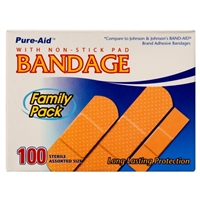 100 CT Pure Aid Band Aid