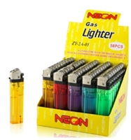 50 units Neon electronic Lighter