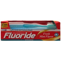 6.4 oz Fluoride Tooth Paste with Brush, Fresh Mint