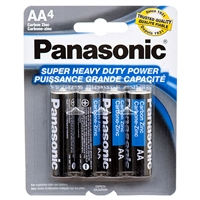 4-pk AA Panasonic Batteries
