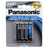 4-pk AAA Panasonic Batteries