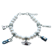 Whimsical Gifts Nurse Charm Bracelet in Silver