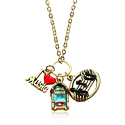 Music Lover Charm Necklace in Gold