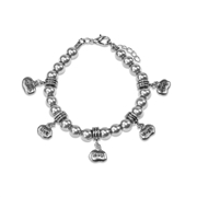Inspire Live Love Laugh Dream Charm Bracelet in Silver