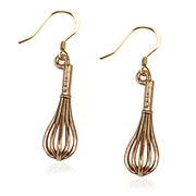 Whisk Charm Earrings in Gold