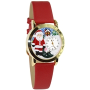 Christmas Santa Claus Watch Small Gold Style