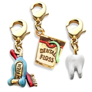 Whimsical Gifts Dental Assistant Charm Bundle in Gold