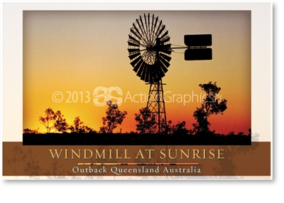 Windmill at Sunrise - Small Magnets  AOBM-008