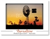 Barcaldine Windmill Sunset - DISCOUNTED Standard Postcard  BAR-418