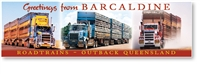 Roadtrains Greetings From Barcaldine Outback Queensland - Long Magnets  BARLM-010