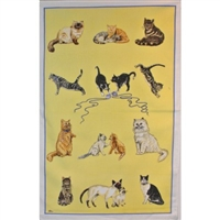 CATS Cotton/Linen Tea Towel - C700