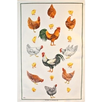 CHOOKS & CHICKS Cotton/Linen Tea Towel - C701