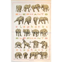ELEPHANTS Cotton/Linen Tea Towel - C706