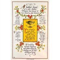 FRIENDSHIP Cotton/Linen Tea Towel - C707