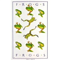FROGS Cotton/Linen Tea Towel - C708