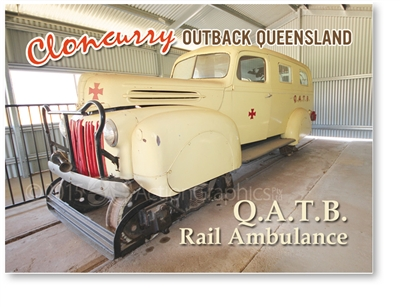Q.A.T.B. Rail Ambulance - Small Magnets  CLOM-007