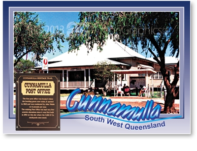 Cunnamulla Post Office - Standard Postcard  CUN-241