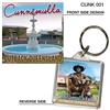 Cunnamulla Outback Queensland - 40mm x 40mm Keyring  CUNK-001