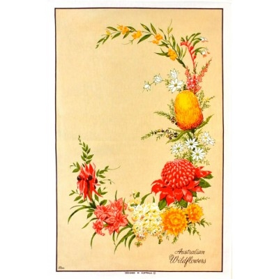 WILDFLOWERS Cotton/Linen Tea Towel - FC216