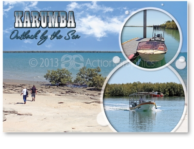 Outback By The Sea - Standard Postcard  KAR-003