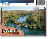 Lawn Hill Gorge, Boodjamulla National Park - Rectangular Sticker  LAWS-003