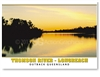 Longreach Thomson River at Dusk - Standard Postcard LON-336