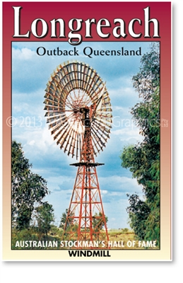 Longreach ASHOF Windmill - DISCOUNTED Small Magnets  LONM-019