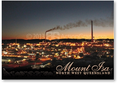Sunset at Mount Isa - Standard Postcard  MTI-005