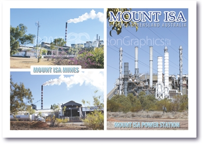 Mount Isa Mines, Power Station - Standard Postcard  MTI-006