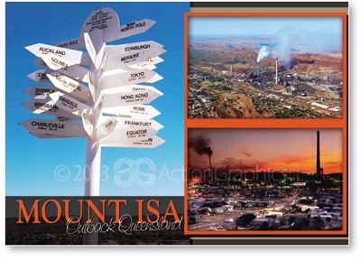 Mount Isa Outback Queensland - Standard Postcard  MTI-124