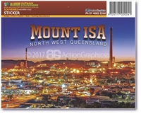 Mount Isa Sunset - Rectangular Sticker MTIS-001