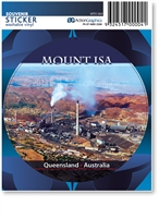 Mount Isa - Round Sticker  MTIS-060
