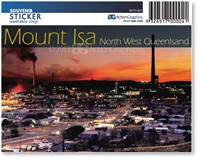 Mount Isa North West Queensland - Rectangular Sticker MTIS-062