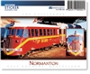 Normanton, Gulflander Train  - DISCOUNTED Rectangular Sticker NORS-028