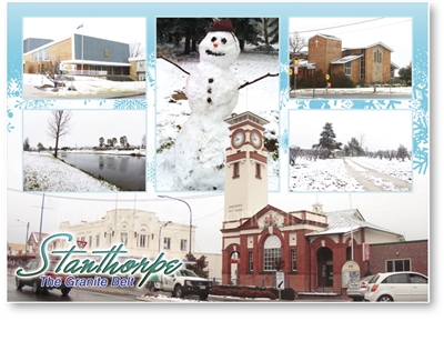 Snow at Stanthorpe - Standard Postcard  STP-015