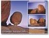 Top of The Pyramids at dusk Girraween National Park - Standard Postcard  STP-028