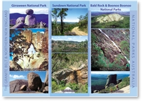 The Granite Belt & Northern New England, National Parks Australia - Standard Postcard  STP-159