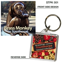 Brass Monkey in Stanthorpe - 40mm x 40mm Keyring  STPK-001