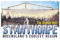 Queensland's Coolest Region Stanthorpe - Rectangular Sticker  STPS-005