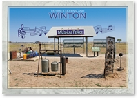 Winton, Musical fence - Standard Postcard  WIN-009