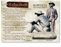 Winton, Waltzing Matilda Song  - Standard Postcard  WIN-153