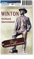 Winton Banjo Paterson - Rectangular Sticker  WINS-045
