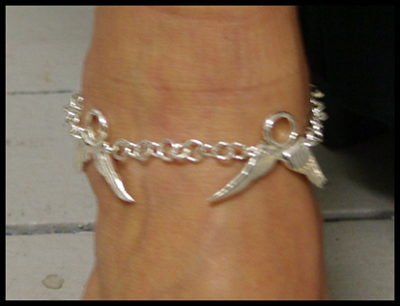Halo and Wings Anklet